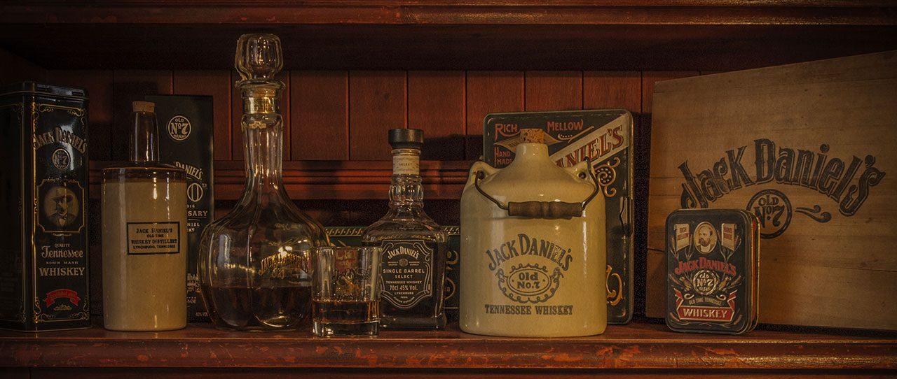 Jack-Daniel's bottiglie